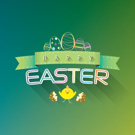 Buona Pasqua tipografica sfondo illustrazione