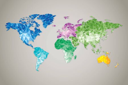 abstract: World Map - Modern elements of info graphics