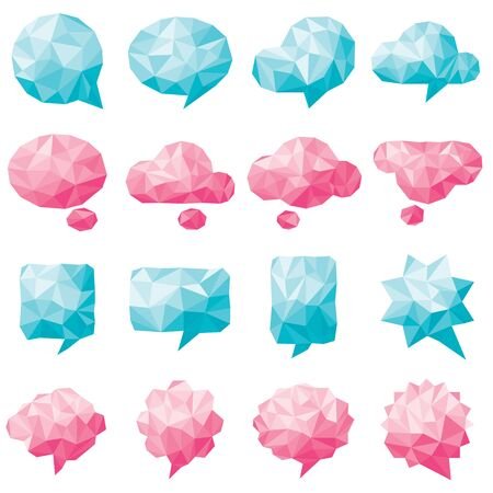 bleached: Collection of various Speech bubbles set