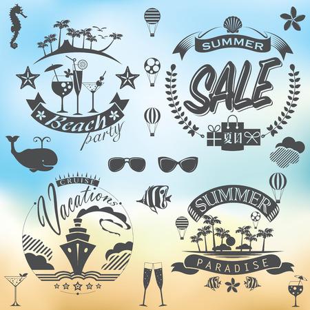 ice pack: For Summer holidays illustration set