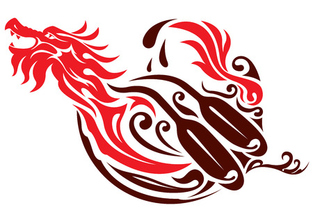 Dragon boat graphic design Illustration