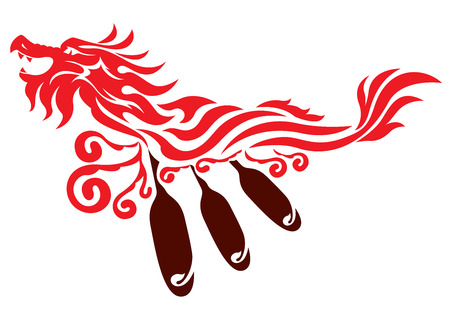 Dragon boat graphic design Illustration