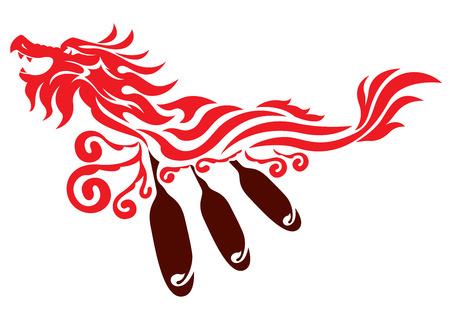 Dragon boot grafisch ontwerp
