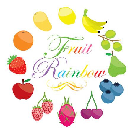 mix fruit: Fruit Rainbow design illustration