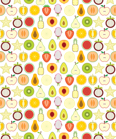 Half fruits seamless pattern for your design Vector