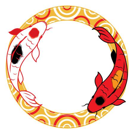 longfin: Drawing - Art Product, Nature, Oriental,  Prosperity fish Illustration