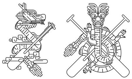 bateau de course: Dragon icône ligne dessin graphique illustration