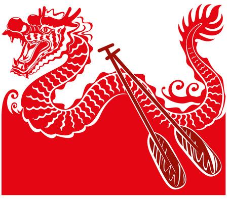 craft product: Chinese Dragon Boat background illustration