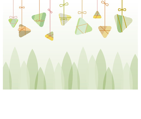 Rice Dumplings background graphic design for the dragon boat festival