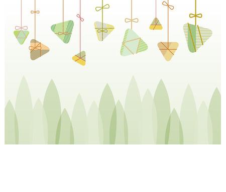 ドラゴンボートフェスティバルのためのライス餃子の背景グラフィックデザイン