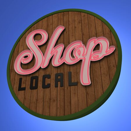 neon sign: Shop Local Neon Sign