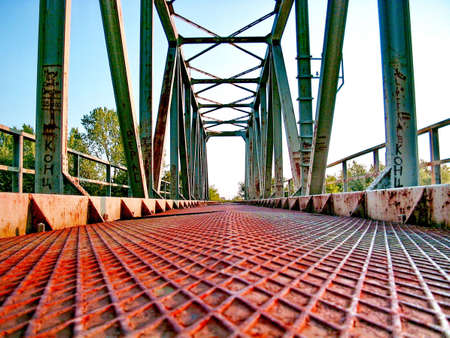 puffing: Old Deserted Railway Bridge Stock Photo