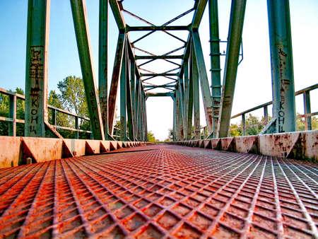 Old Deserted Railway Bridge Reklamní fotografie
