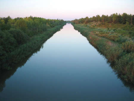 conduit: Water highway,channel,conduit,canal Stock Photo