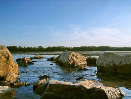 the danube: fast and clear water,Danube river