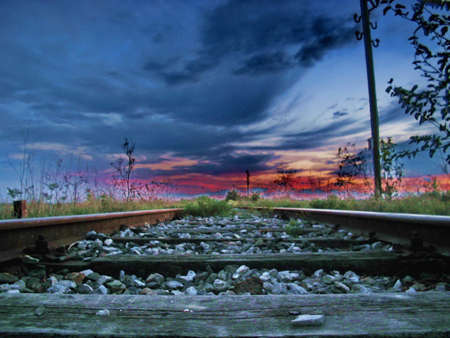old railway track,abstract photo photo