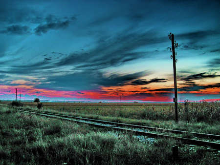 old railway track,abstract photo