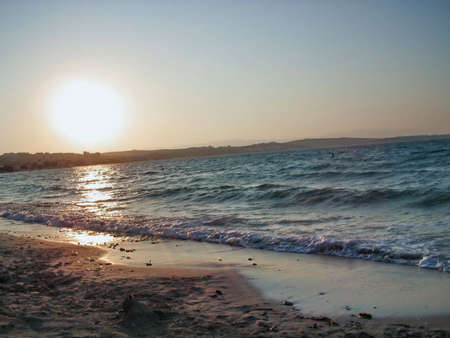 This is a photograph of a beautiful beach in Mediterranean. It is a perfect shot for a background.