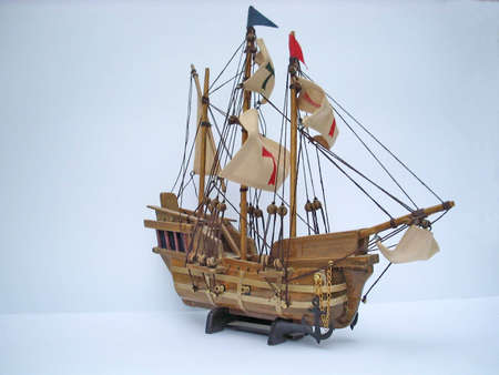 replica of columbus boat used when america was discovered photo