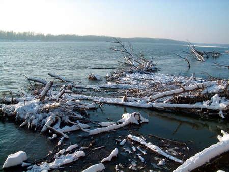 Beautiful winter river landscape Stock Photo - 2330783