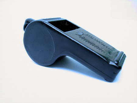 A black plastic whistle  Reklamní fotografie