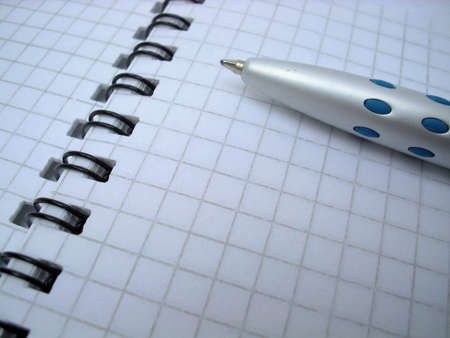 pen on the notebook