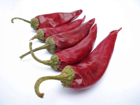 red hot dry peppers photo