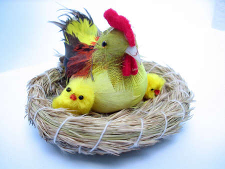 easter decorations,chickens photo