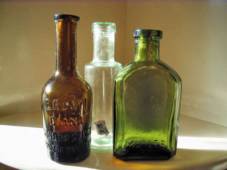 pocion: Antiguo botellas de Medicina