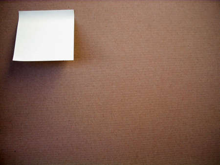 confine: Empty white paper on a pinboard. you can add your own text. Stock Photo