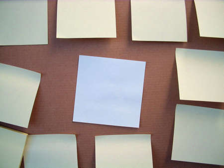 confine: board notes easy to populate with your thoughs Stock Photo