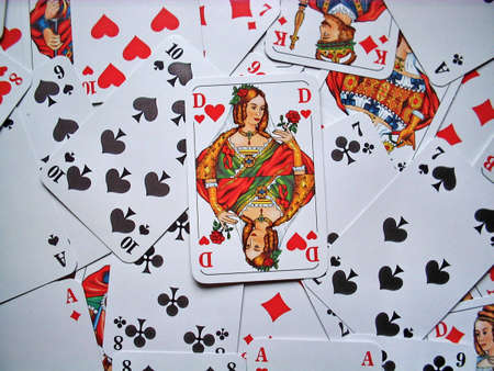 Playing cards arranged as a background Stock Photo - 2482542