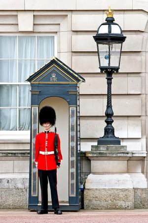 Buckingham Palace guard on duty photo