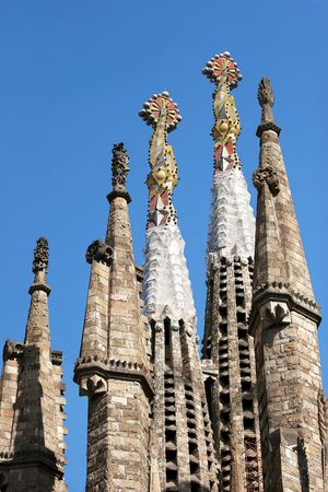 reconstruct: Towers of Sagrada Familia church