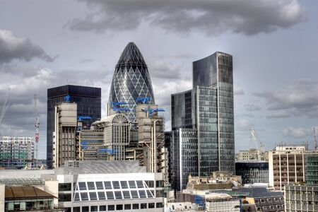 gherkin: Modern London city skyline in HDR Editorial