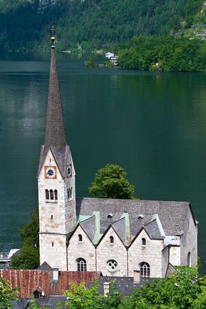 lake district: Hallstatter See (lake district) Austria Stock Photo