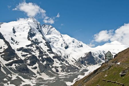 grossglockner: Grossglockner 3798 m highest mountain in Austria and glacier Pasterze