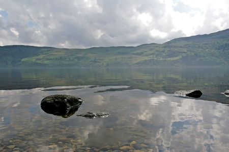 ness river: View of scenic Loch Ness in Scotland