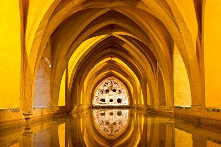 eau de pluie: Baths of Lady Maria de Padilla (rainwater tanks) at the Alcazar of Seville in Spain