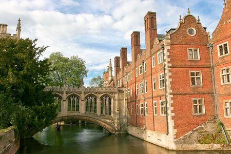 cambridge: Bridge of Sighs is a covered bridge belonging in St Johns College of Cambridge University in England UK