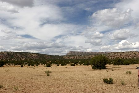 mesas: mesas and desert in new mexico Stock Photo