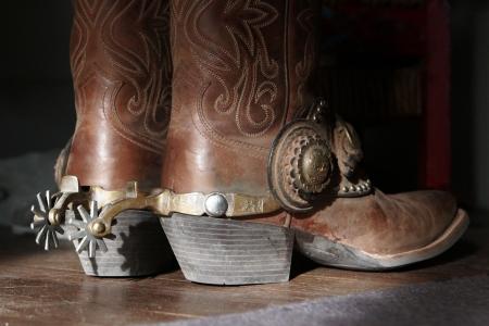 leather boots: Cowboy boots & spurs