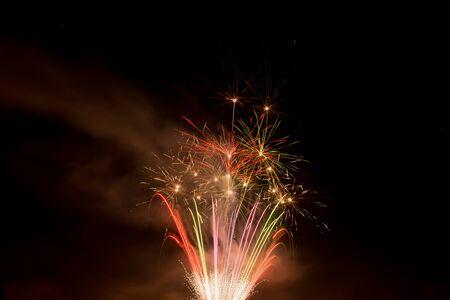 Beautiful colorful firework in a night sky