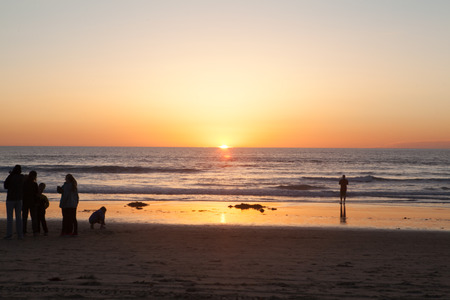California sunset in san diego with nice view Banque d'images