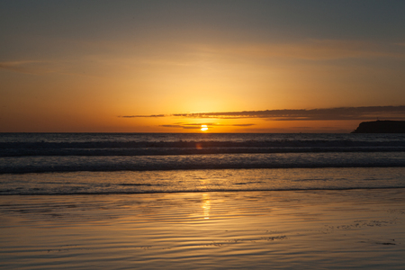 California sunset in san diego with nice view Stock Photo