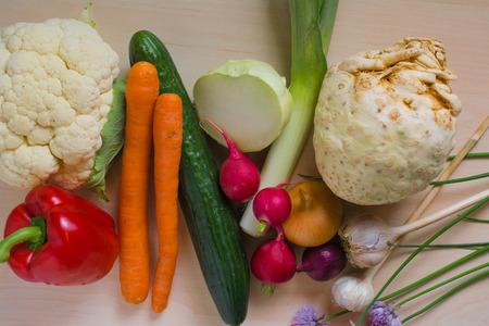 cebollines: Set of different vegetables