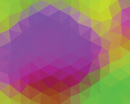 Kaleidoscopic low poly style triangle vector mosaic background Illustration