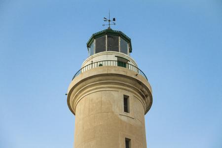 Landmark of the Alexandroupoli, Greece. The lighthouse. Stock Photo