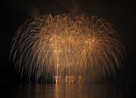 Fireworks - Ignis Brunensis in Czech republic in Brno 18.6.2014 photo
