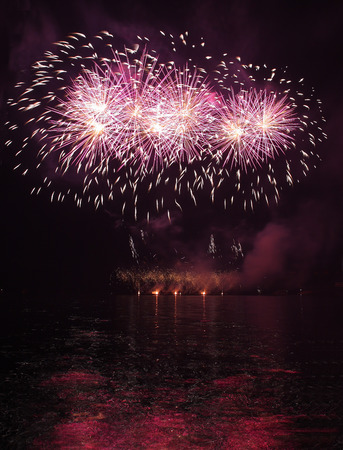 Fireworks - Ignis Brunensis in Czech republic in Brno 11.6.2014 photo